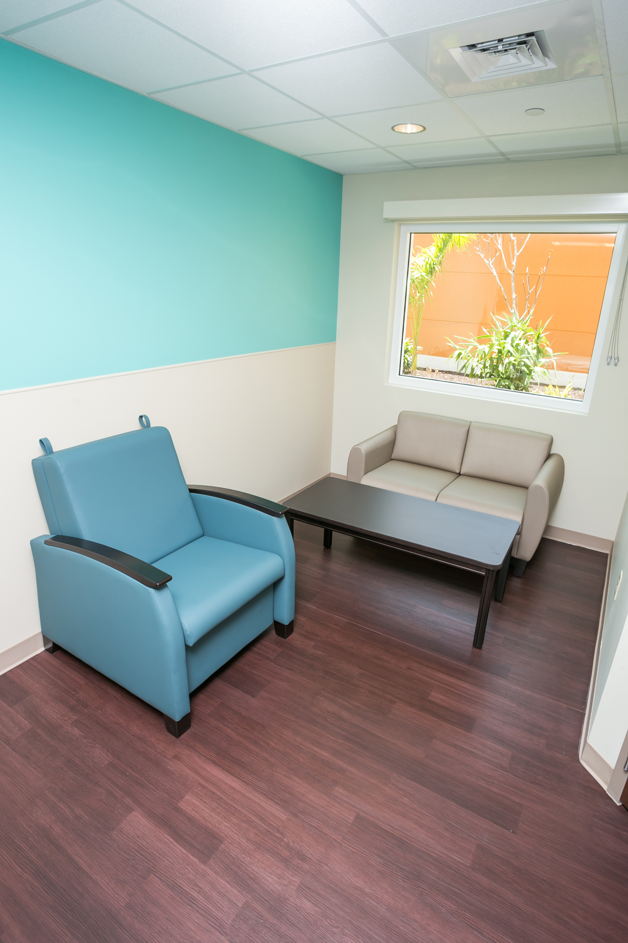 Health City sitting area in patient room