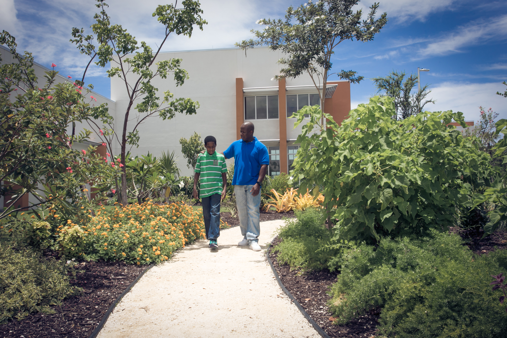 Patients walking pathway at Health City