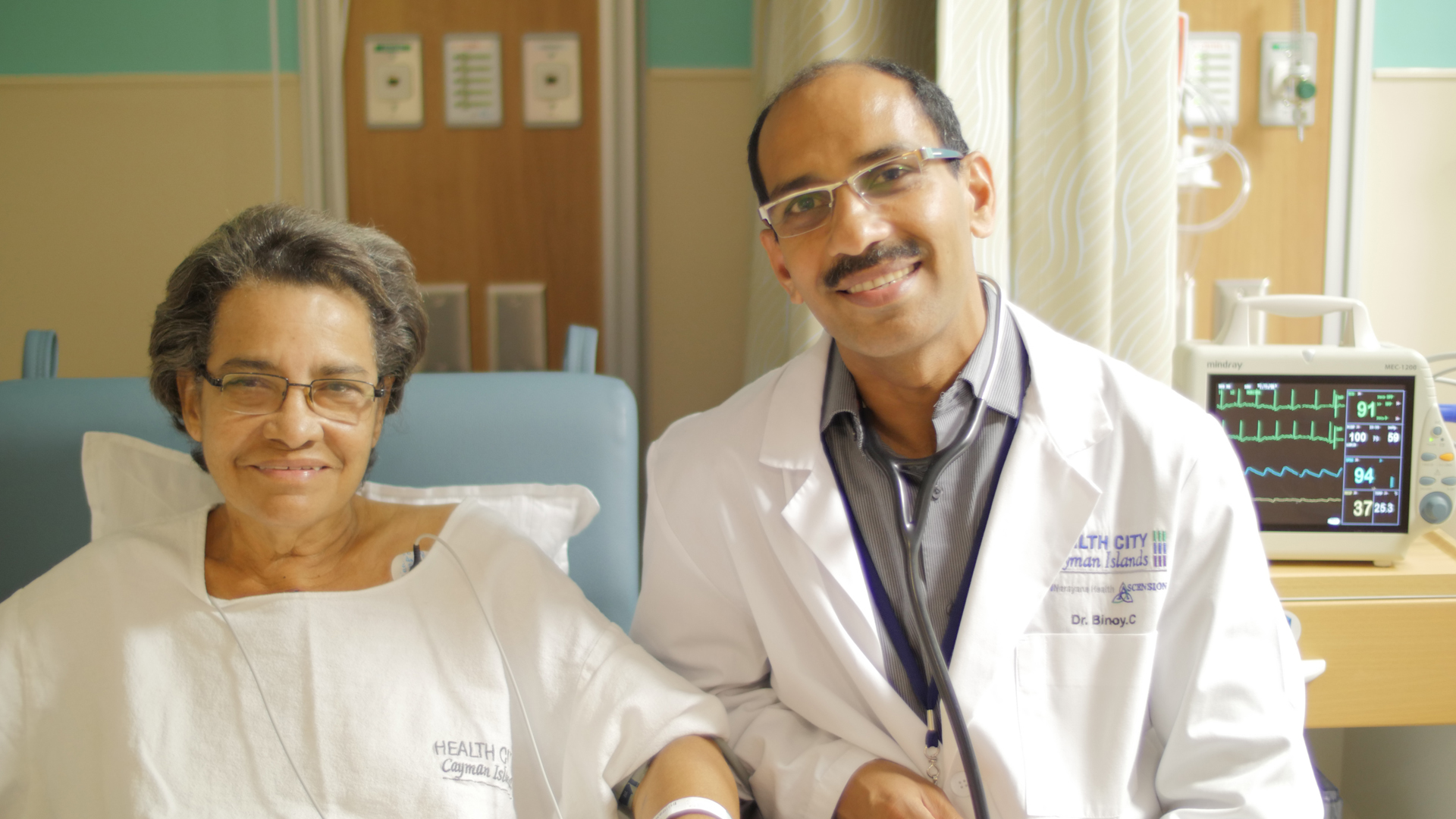 Dr Binoy and patient